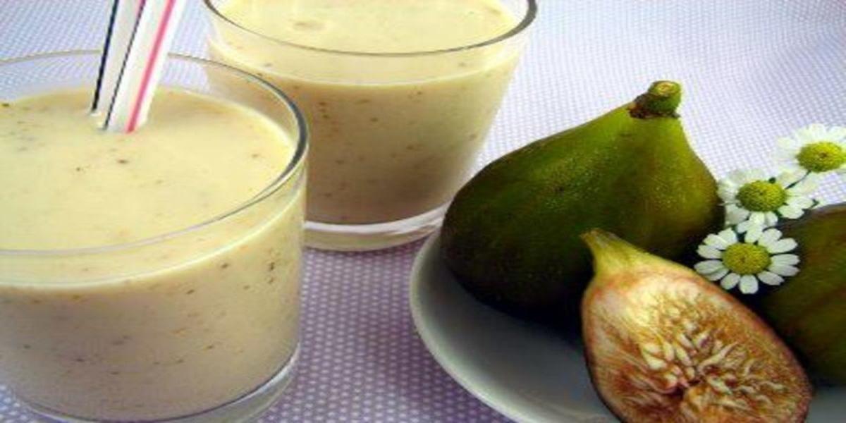 Batido de Figo com Banana e Iogurte