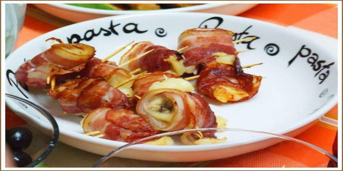 Enroladinhos de Banana, Bacon e Queijo