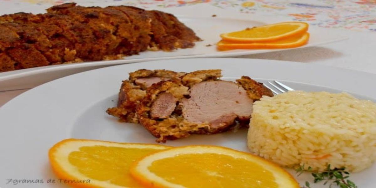 Lombinho de Porco com Crosta de Broa e Alheira