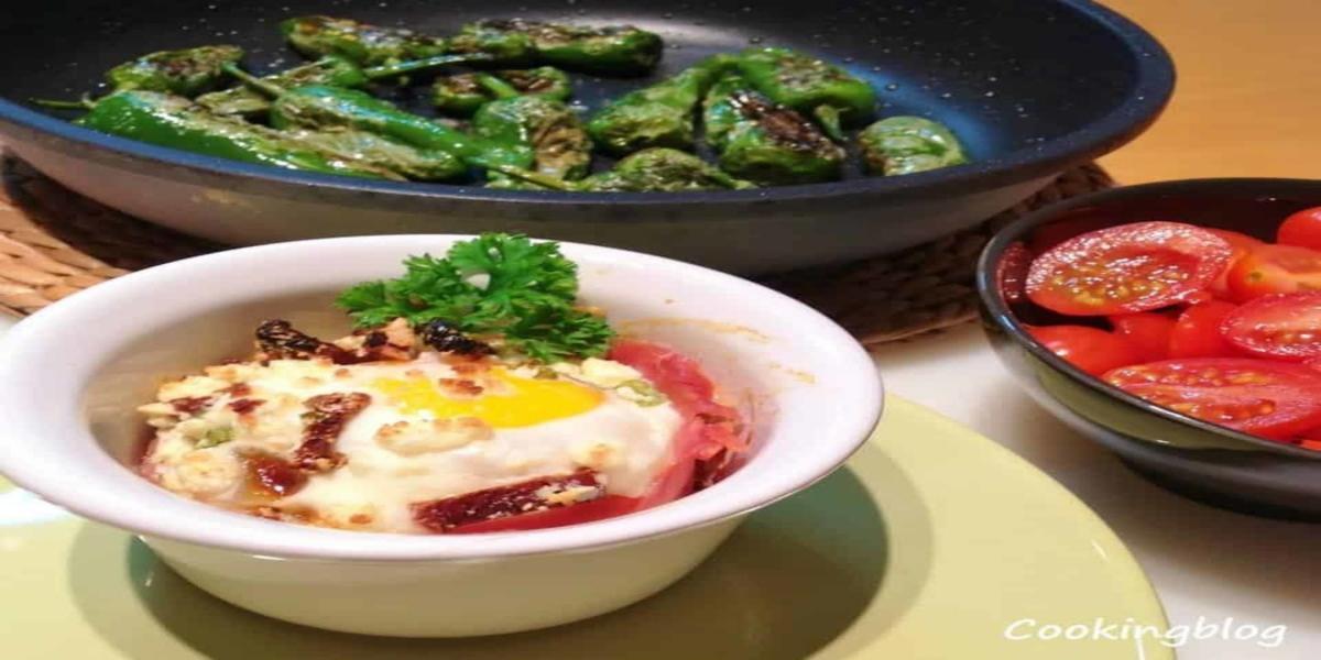 Ovos no Forno com Presunto e Queijo