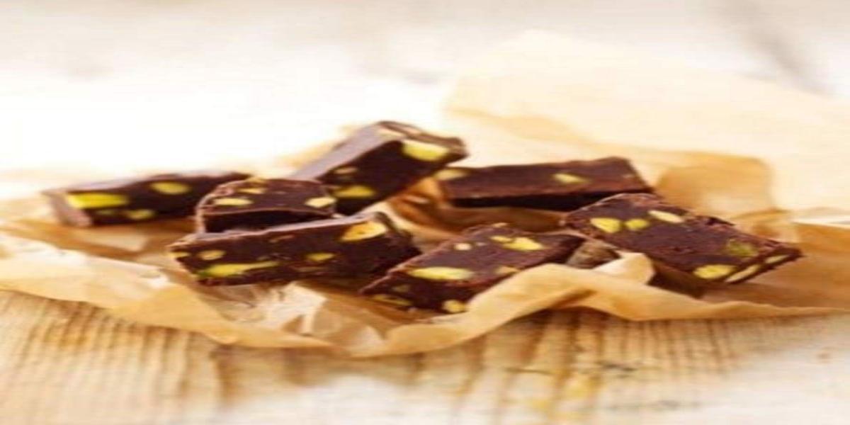 Fudge de Chocolate e Pistachio