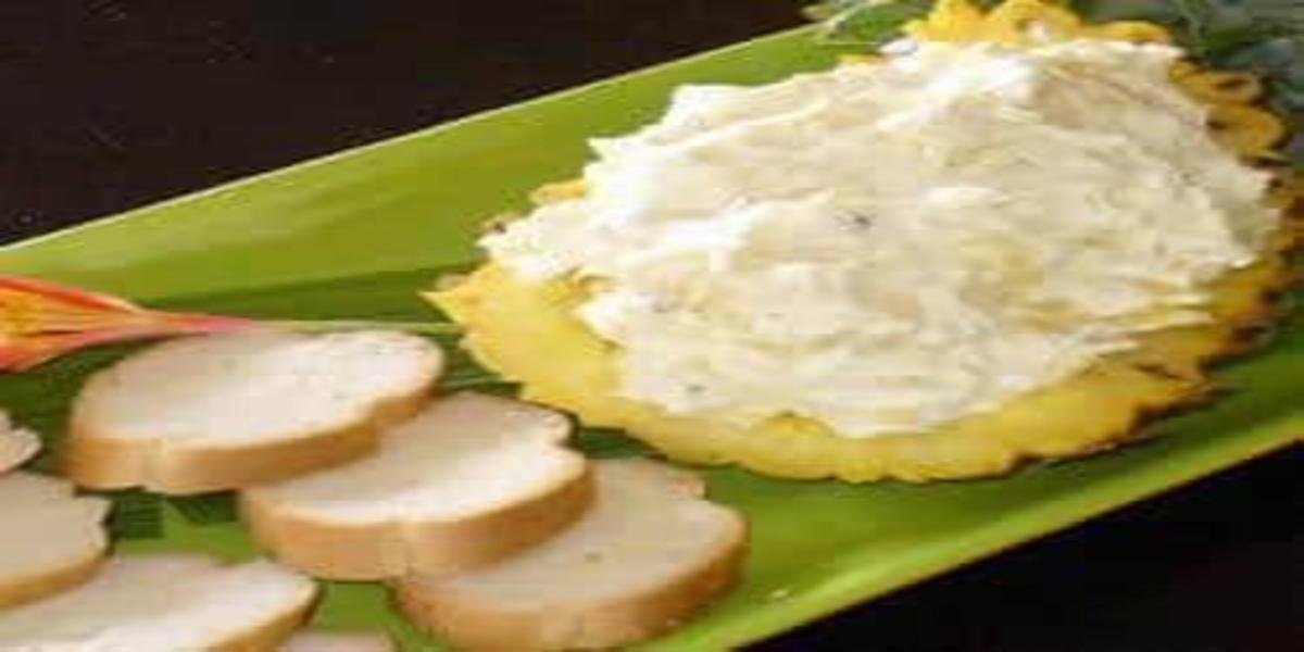 Patê de Cream Cheese com Abacaxi