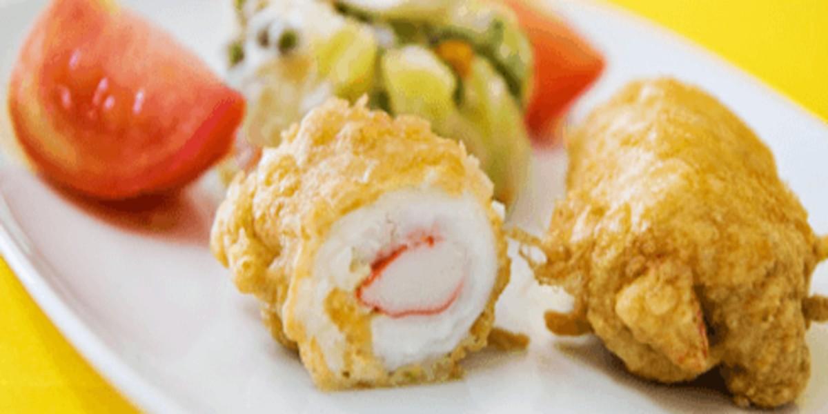 Rolinhos de Filetes de Peixe