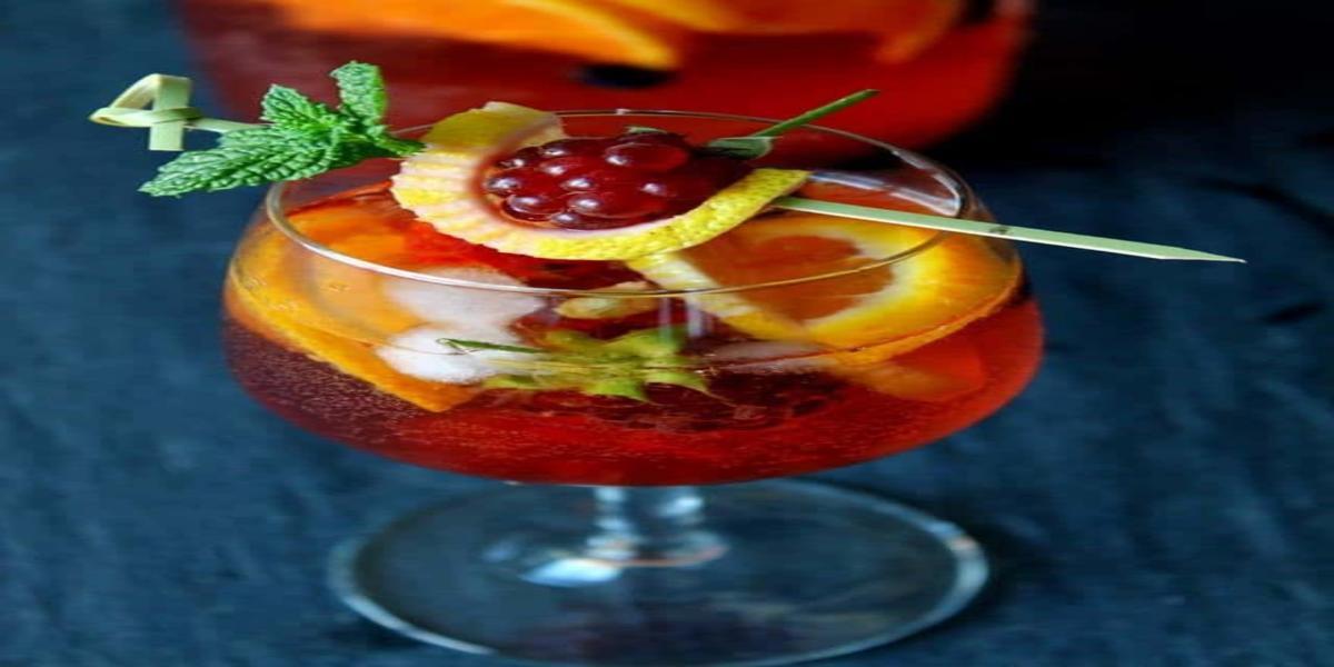 Sangria Rosé com Frutos Vermelhos