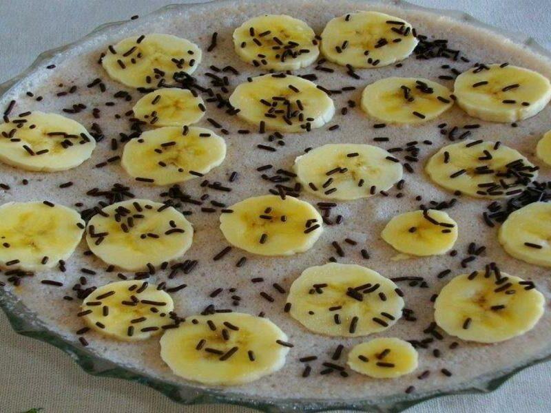 Mousse de Banana com Champanhe