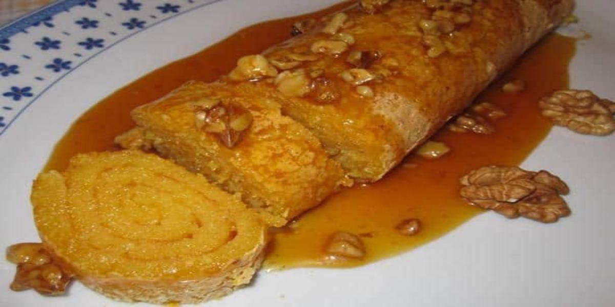 Torta de Laranja com Caramelo e Nozes