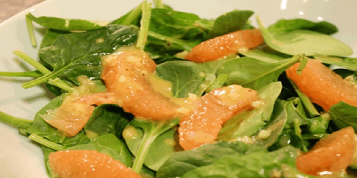 Salada de Toranja e Espinafres