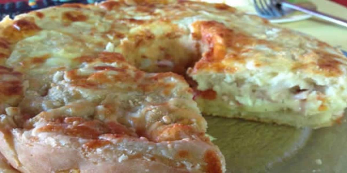 Torta de Ricotta, Tomate e Peito de Peru