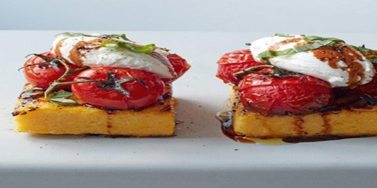 Polenta Grelhada com Tomates Assados