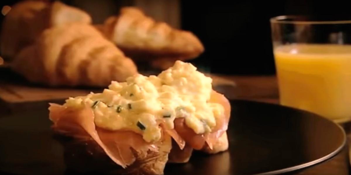 Croissants com Salmão Fumado