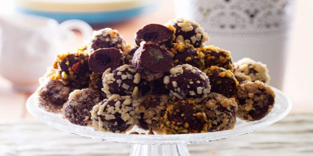 Bombons de Chocolate e Frutos Secos