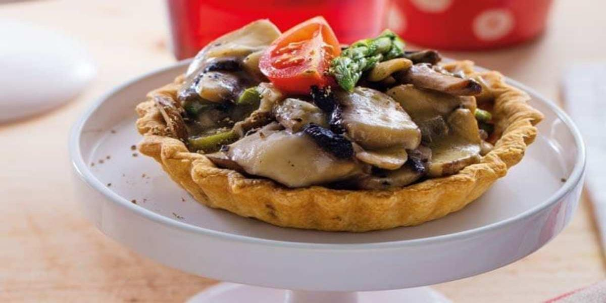 Tartelette de Cogumelos e Espargos