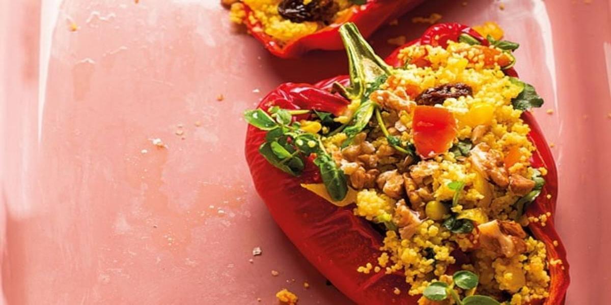 Pimentos Recheados com Salada de Cuscuz