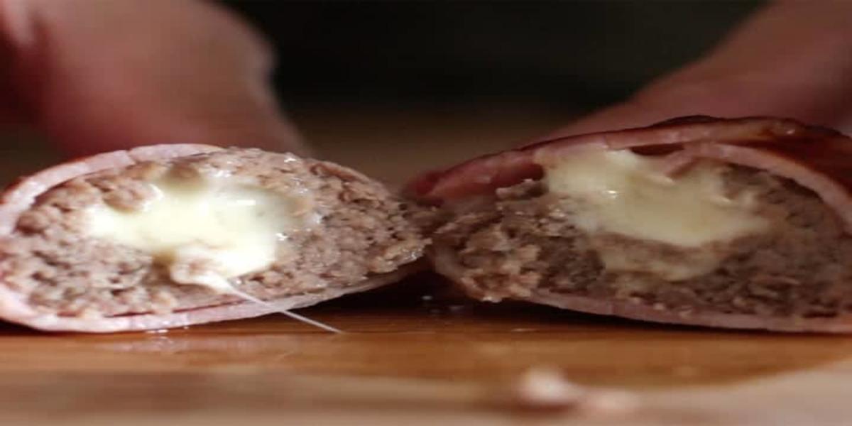 Bolinha de Carne com Queijo