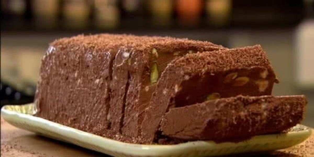 Semifrio de Chocolate e Pistachio