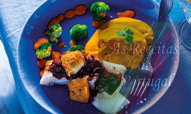 Bacalhau com Brie e Hummus