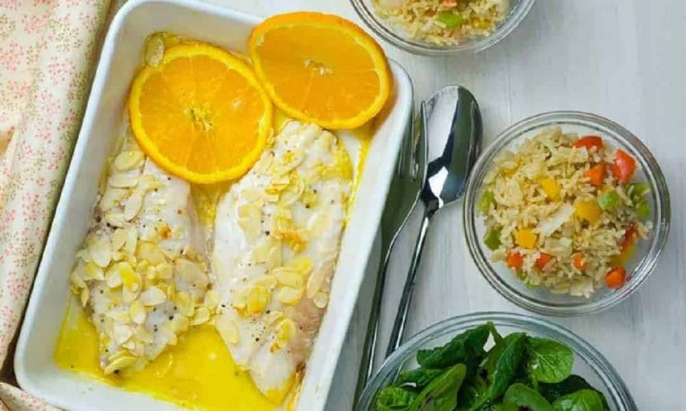 Redfish no Forno com Laranja