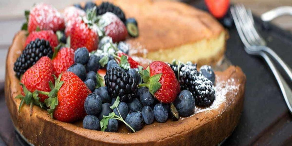 Cheesecake Baunilha com Frutos