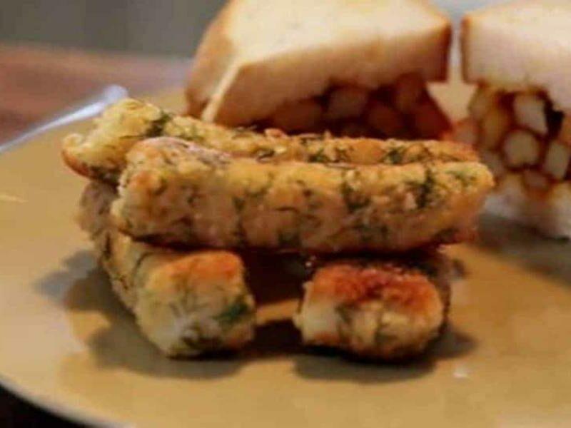 Douradinhos com Sandwich de Batata