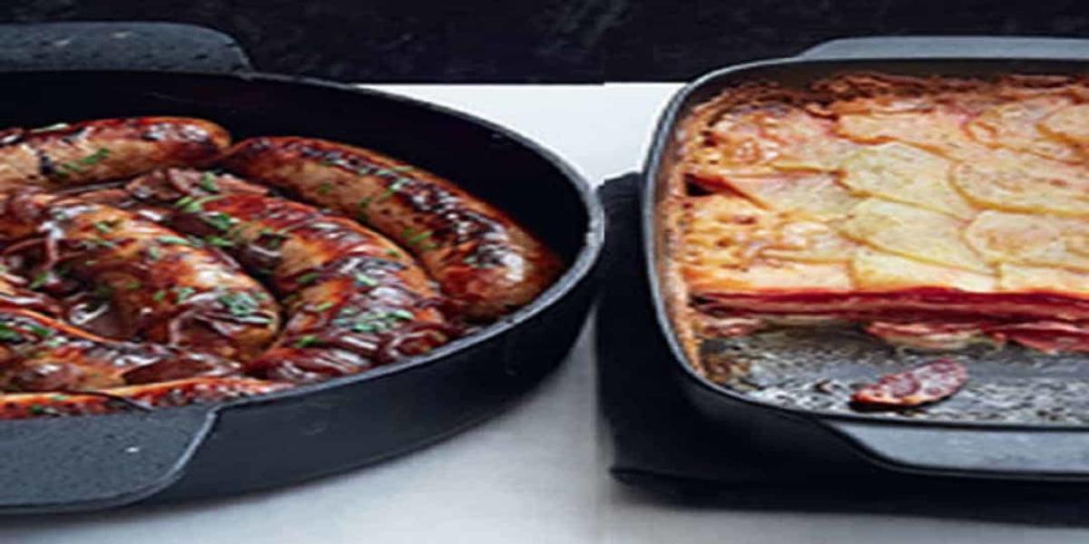 Salsicha com Batata e Gratinado de Beterraba
