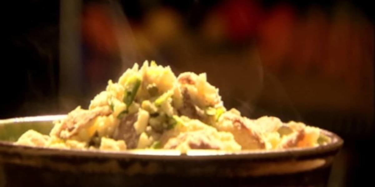 Batatas Esmagadas com Queijo