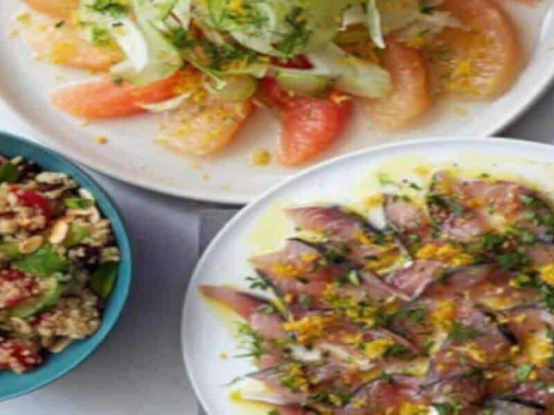 Ceviche de Cavala com Salada