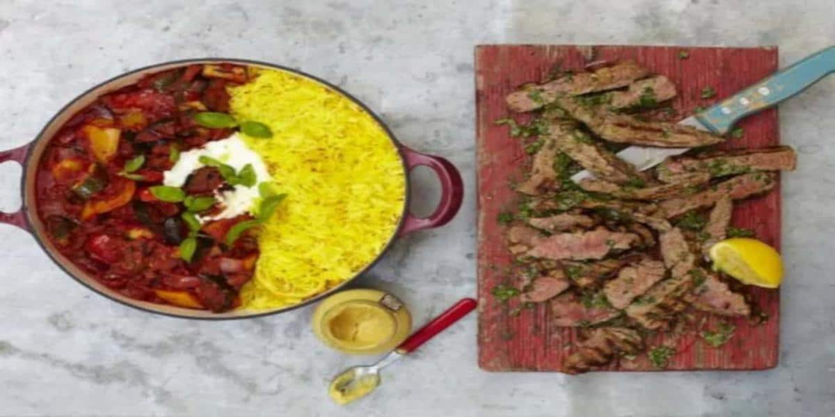 Bife Ratatouille com Arroz