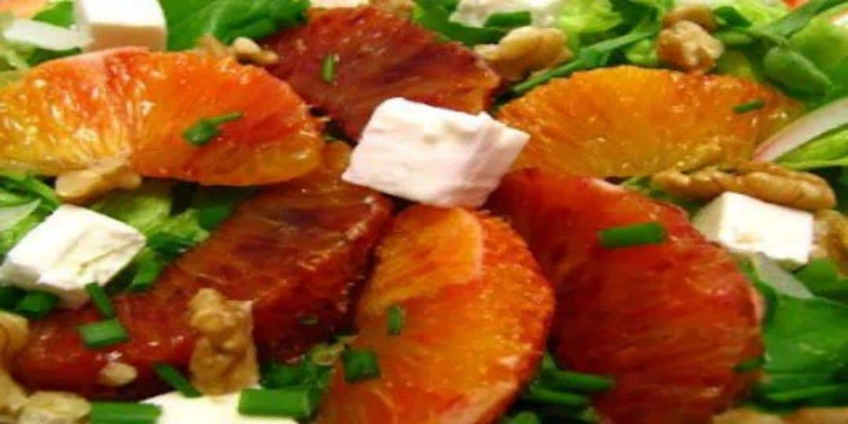 Salada de Alface com Laranja