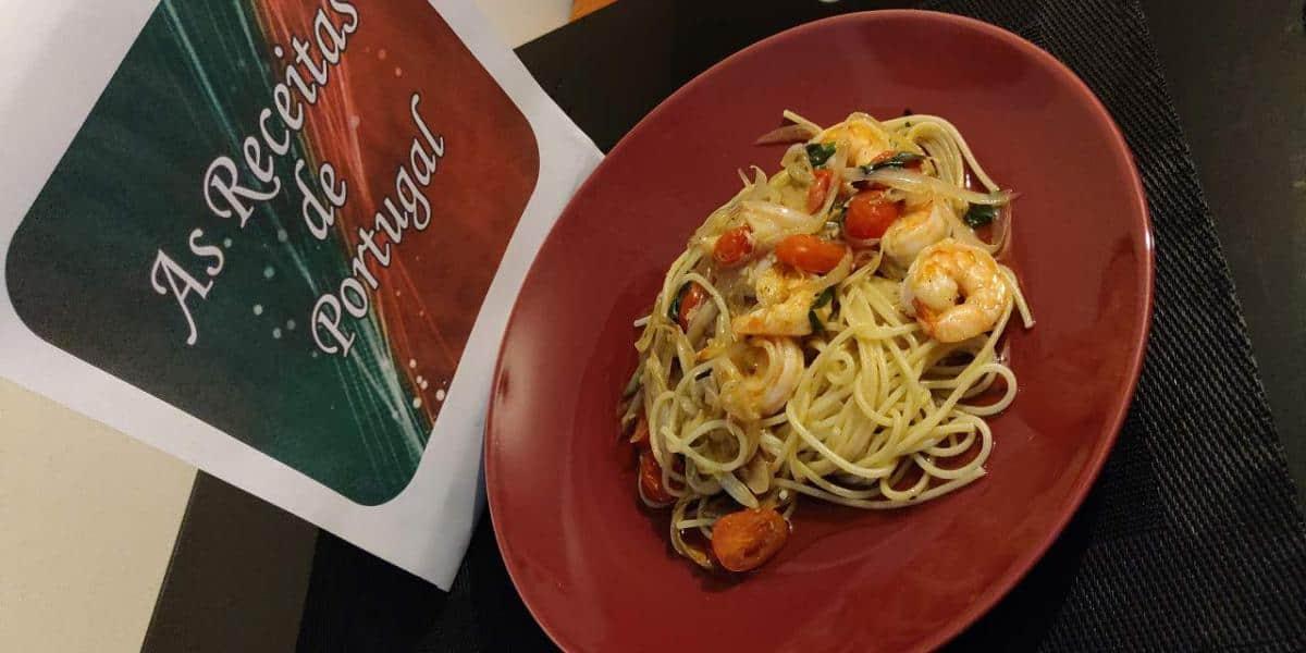 Scampi de Camarão com Esparguete